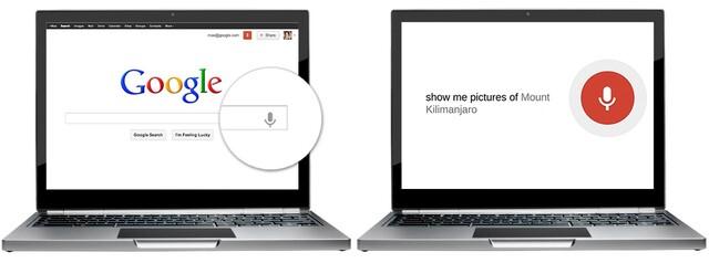 Sprachsuche für Desktop und Notebook