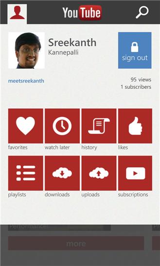 Microsofts YouTube-Applikation