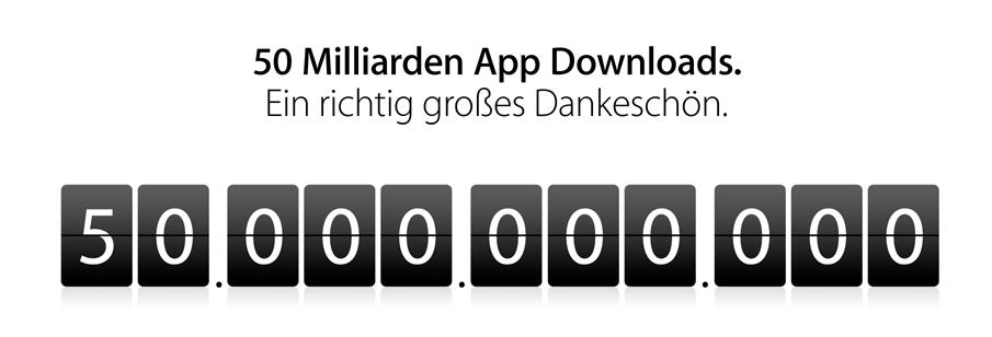 50 Milliarden App-Downloads