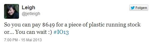 Tweet der HTC-Mitarbeiterin