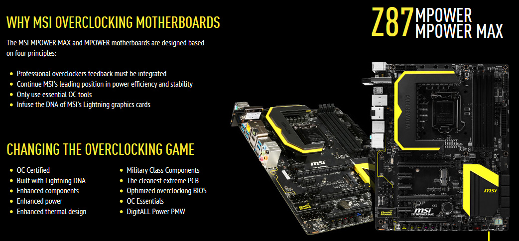 MSI Z87 MPower Max (Features)