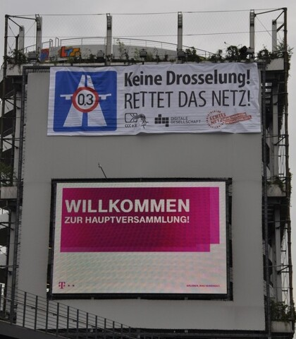 Banner der Demonstranten