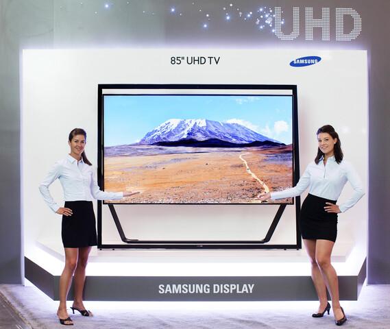 """Samsung zeigt 85""""-UHD-TV auf der Display Week 2013"""