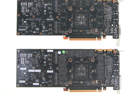Nvidia GeForce GTX 780 (o.) vs. Nvidia GeForce GTX Titan (u.)