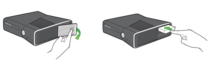 Festplattentausch der Xbox 360 S