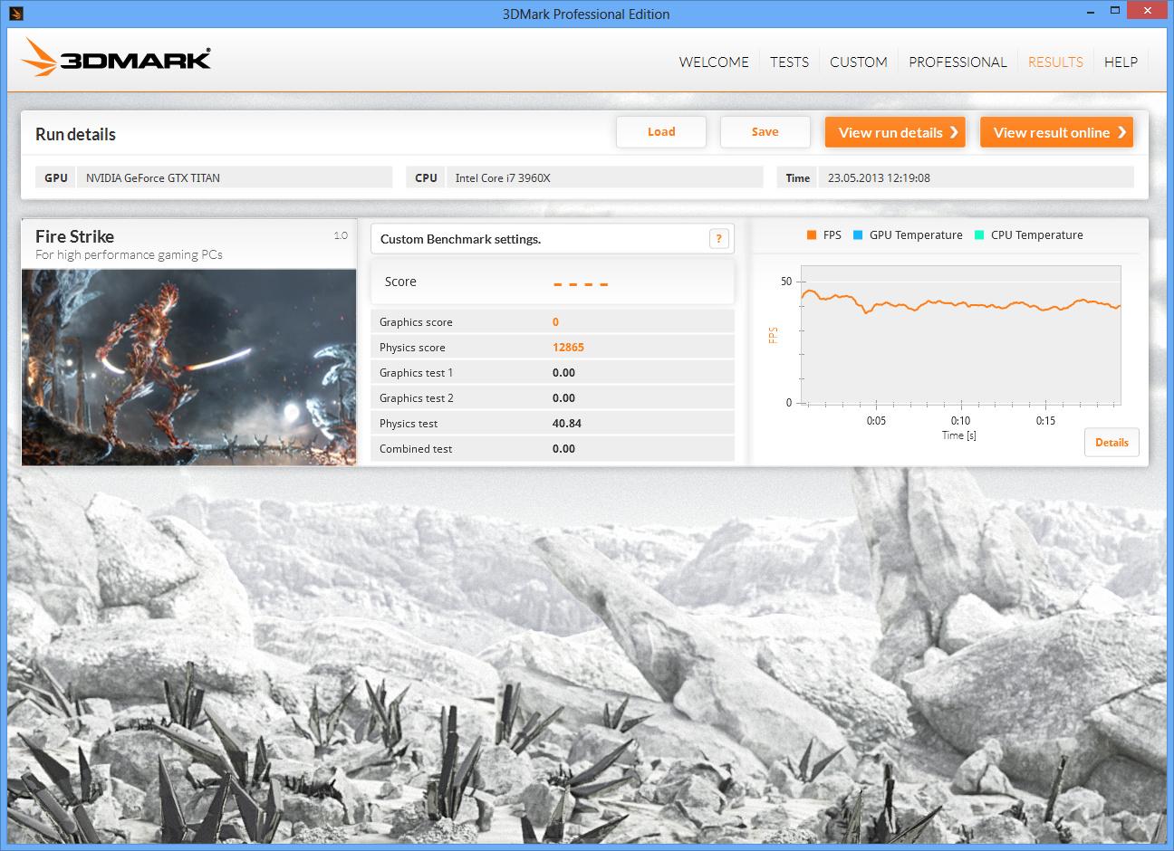 Futuremark 3DMark FireStrike Physics
