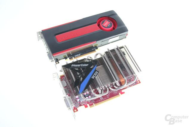 Radeon HD 7850: Oben Referenz. unten PowerColor SCS3
