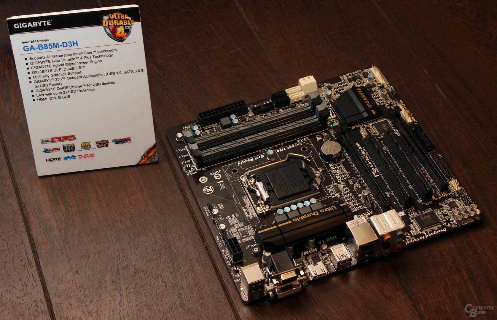 """Gigabyte GA-B85M-D3H mit """"unbekanntem"""" Chipsatz"""