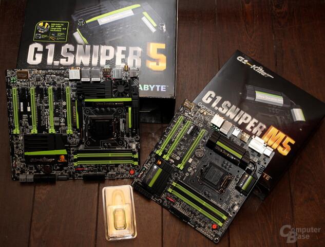 Gigabyte G1.Sniper 5 und G1.Sniper M5