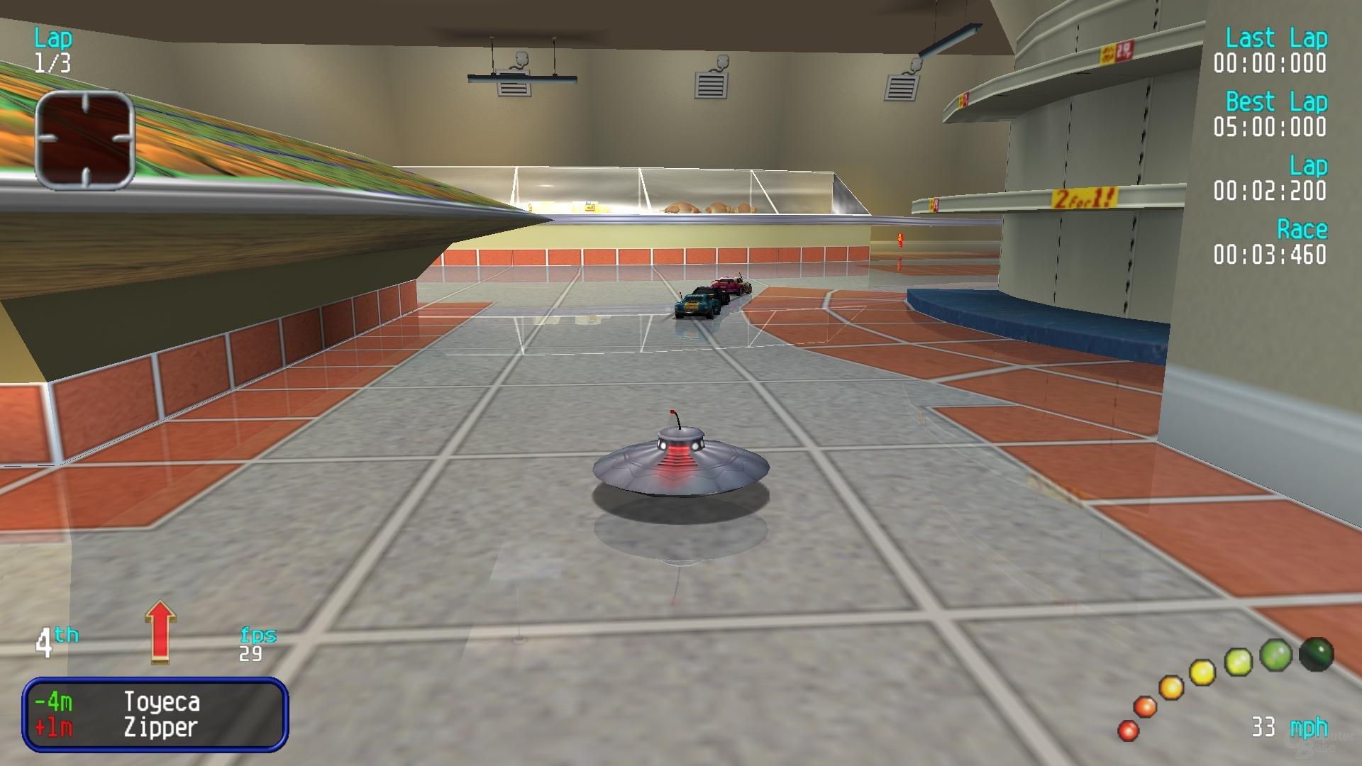 Das agile Ufo ist eines der geheimen Fahrzeuge