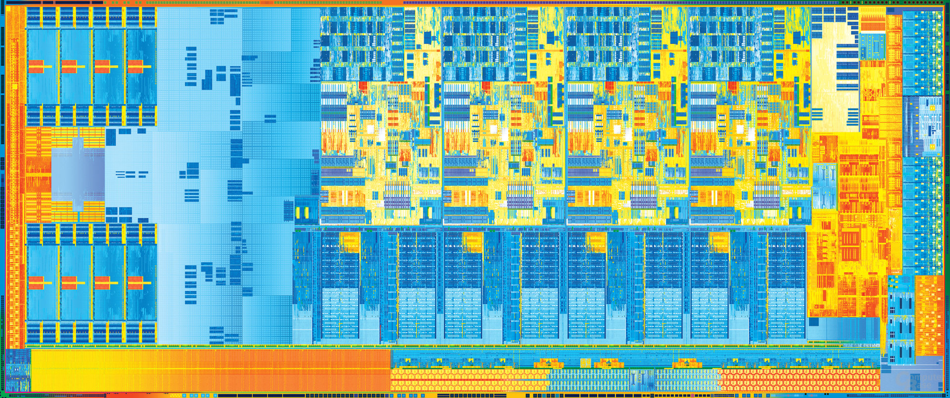 """Intel """"Ivy Bridge"""" mit vier Kernen und GT2-Grafik (links)"""