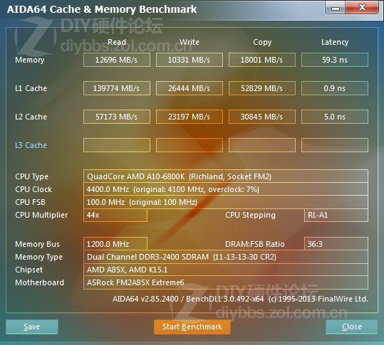 A10-6800K: AIDA 64