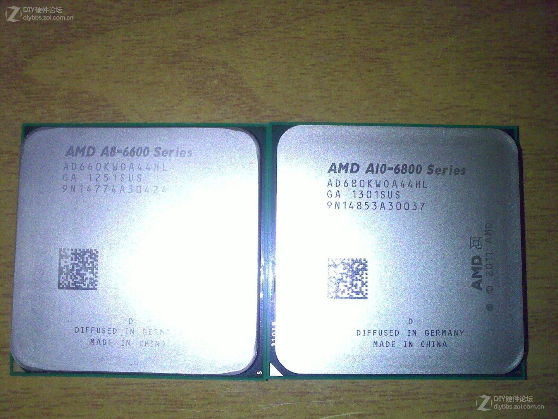 A10-6800K und A8-6600K