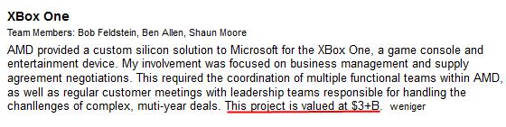 Bob Feldstein nennt Wert von 3 Mrd. US-Dollar für AMDs Xbox-Deal