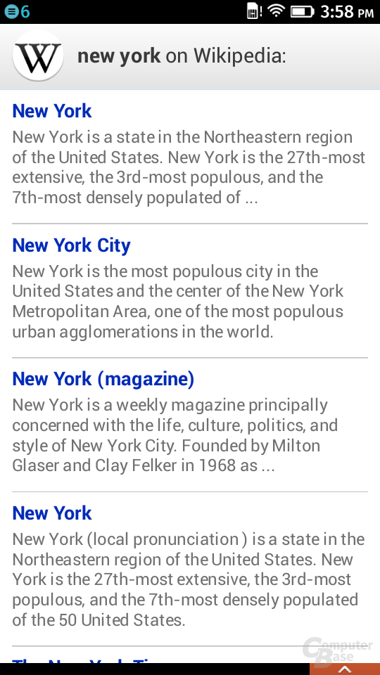 Wikipedia als Suchergebnis