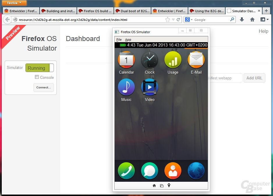 Mozilla Firefox OS Simulator