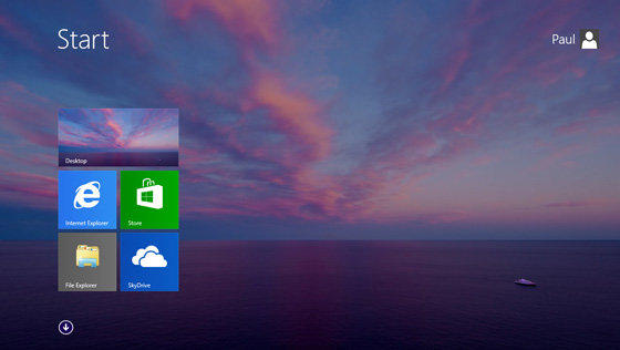 Modern-UI-Oberfläche mit Desktop-Hintergrundbild