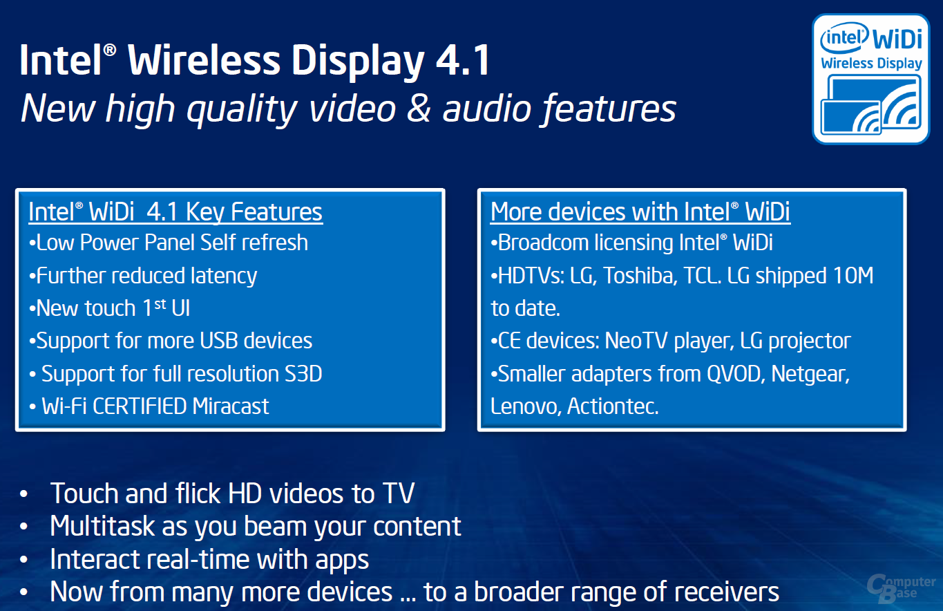 Intel Wireless Display (WiDi) 4.1