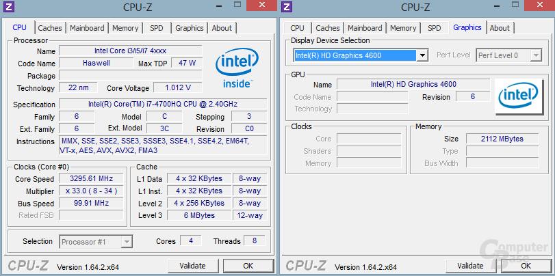 Intel Core i7-4700HQ mit HD 4600