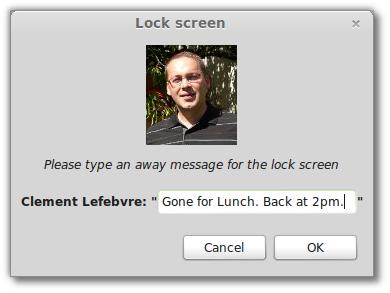 Bildschirmschoner mit Away Messages