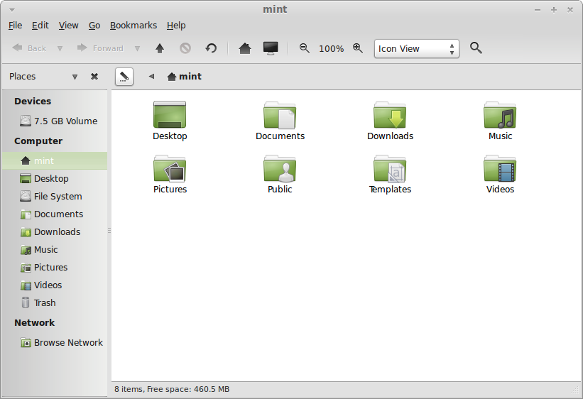 Dateimanager Caja