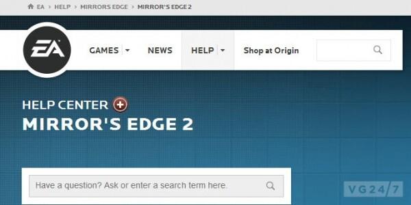 Mirror's Edge 2 auf der EA-Homepage