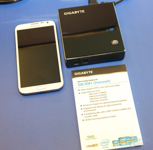 Gigabytes GB-XM1 mit Haswell