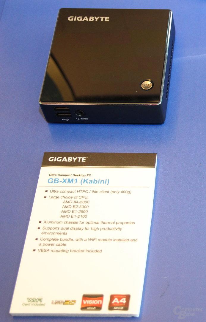 Gigabytes GB-XM1 auch mit AMDs Kabini