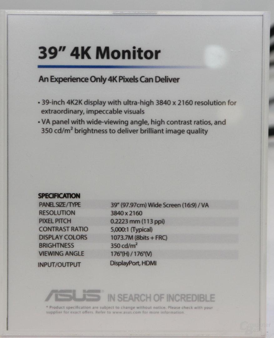 Asus' 39-Zoll-Display als Prototyp