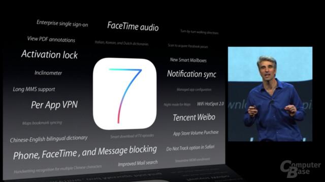 Apple iOS 7 - Änderungen