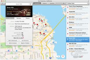 Apple OS X 10.9 – Karten