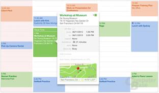 Apple OS X 10.9 – Kalender