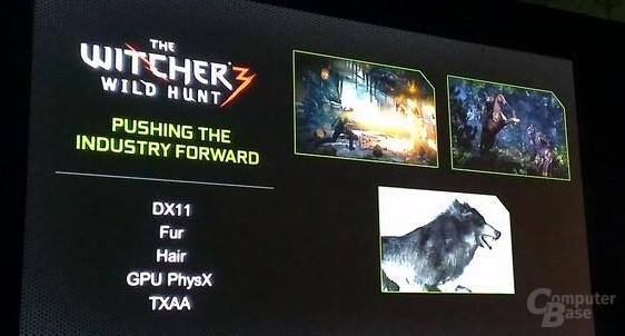 Nvidia-Präsentationsfolie zu Witcher 3: Wilde Jagd