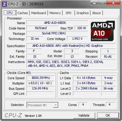 8.000 MHz auf dem AMD A10-6800K