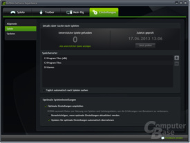 Nvidia GeForce Experience in Benutzung