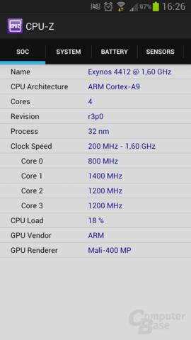CPU-Z für Android