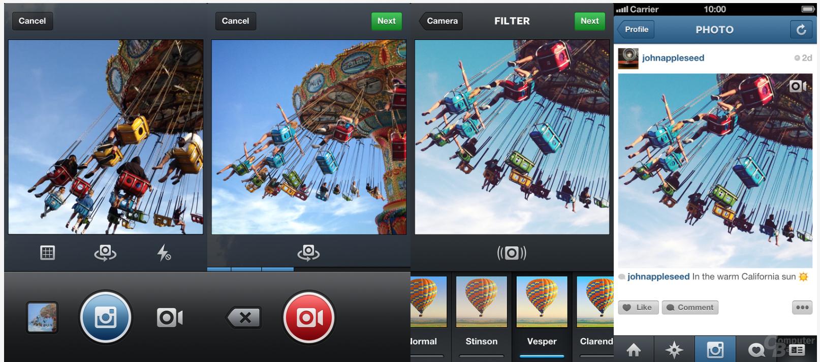 Instagram 4.0 für iOS