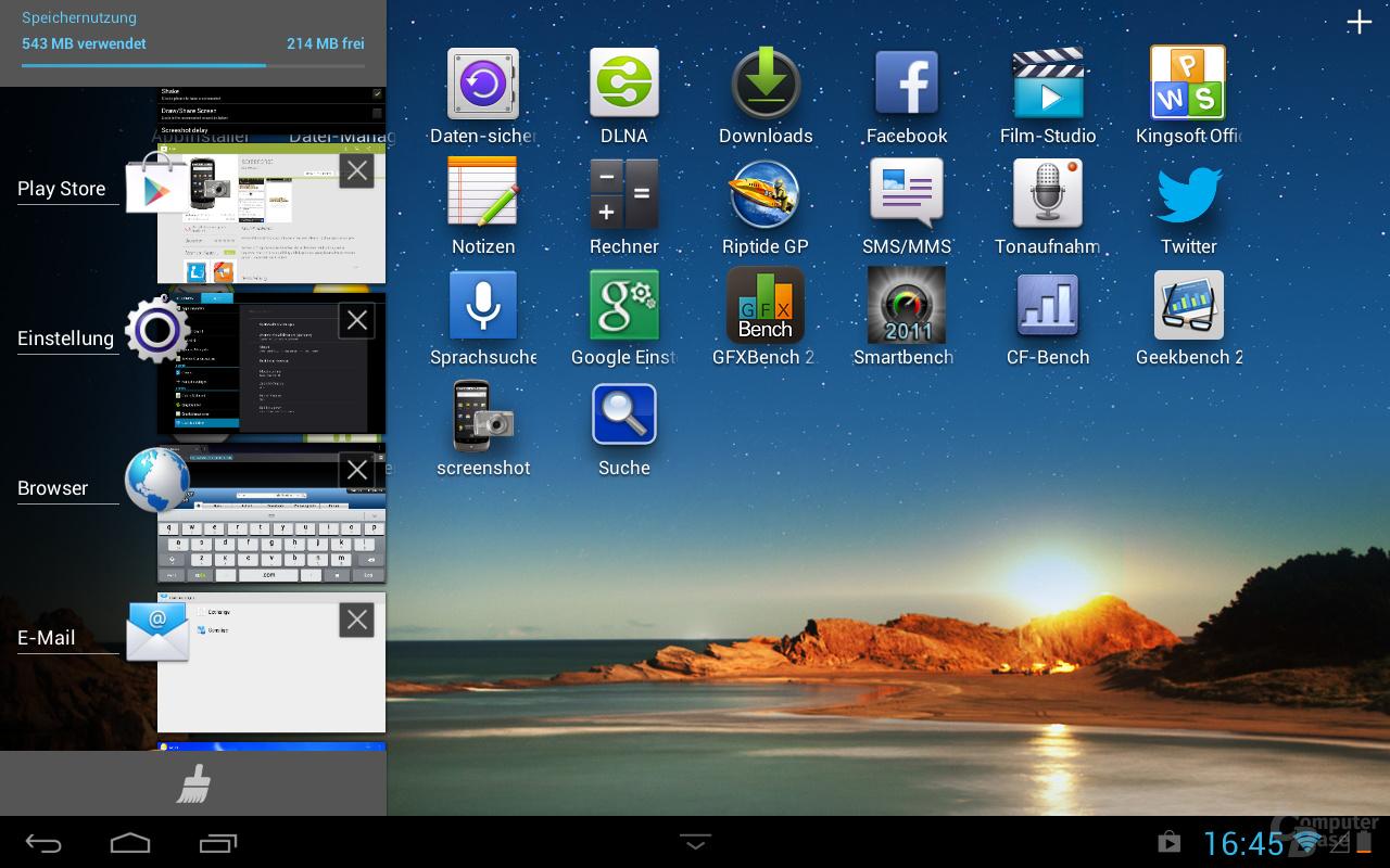 Huawei MediaPad 10 Link Taskmanager