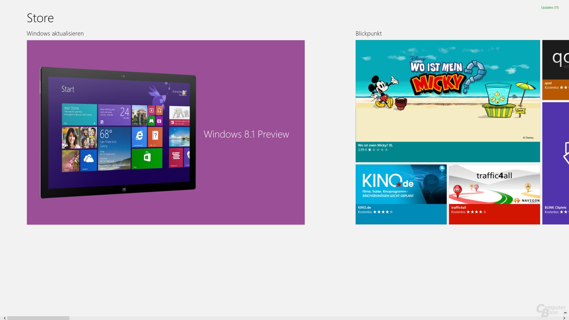 Windows-Store vor dem Update