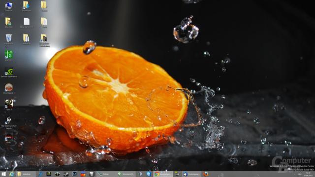 Desktop mit Startknopf