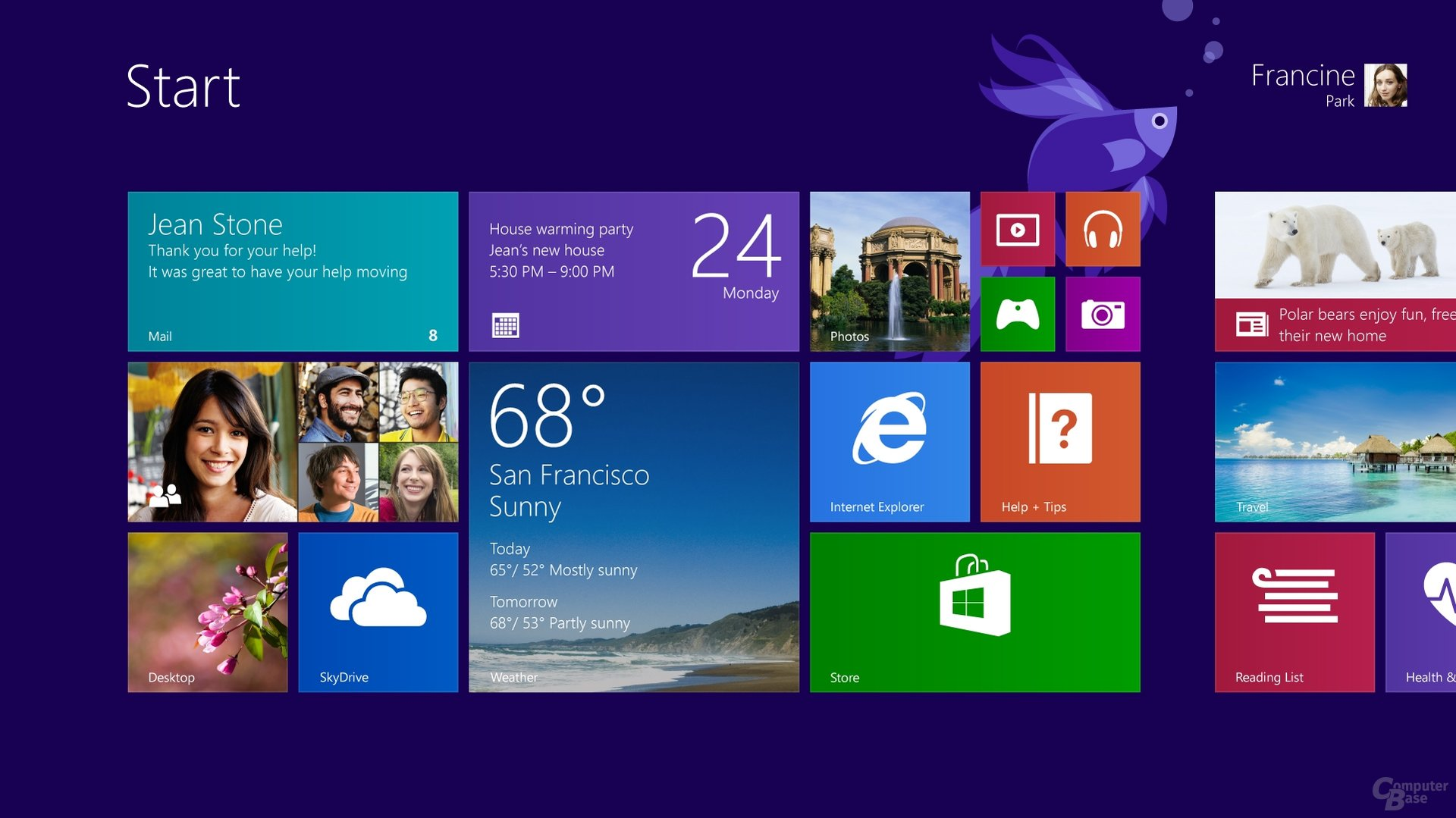 Windows 8.1 – Startscreen