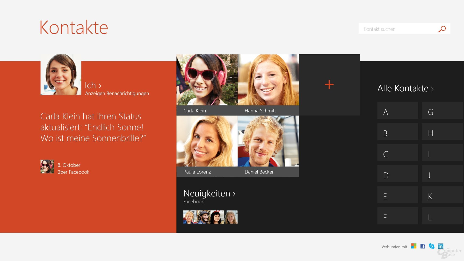 Windows 8.1 – Peoplescreen