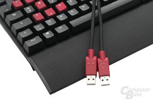 Zwei USB-2.0-Anschlüsse, Soft-Touch-Handballenauflage