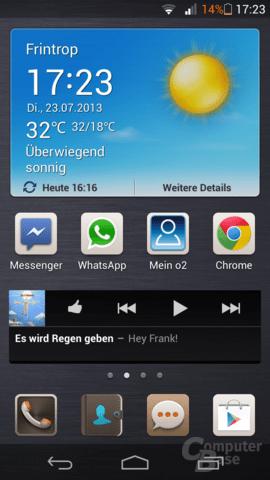 Screenshot des Huawei Ascend P6
