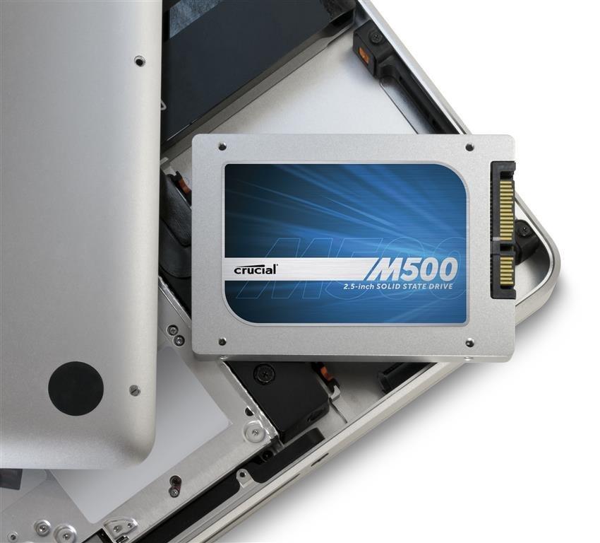 Der Gewinn: Eine Crucial M500 SSD mit 960 GB