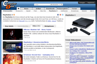 "Themenseite ""Playstation 4"" mit Tab ""Videos"""