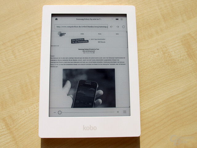 Kobo Aura HD – Browser