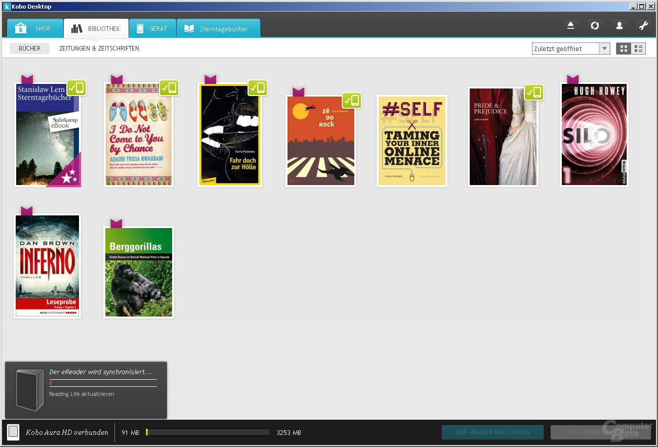 Kobo Desktop Bibliothek