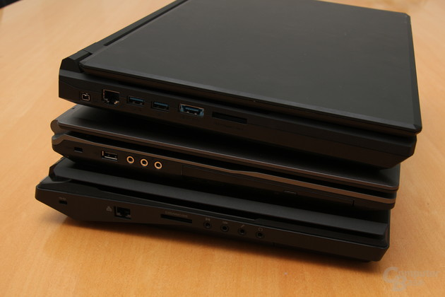 Drei von vier getesteten Gaming-Notebooks