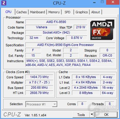 AMD FX-9590 im Leerlauf